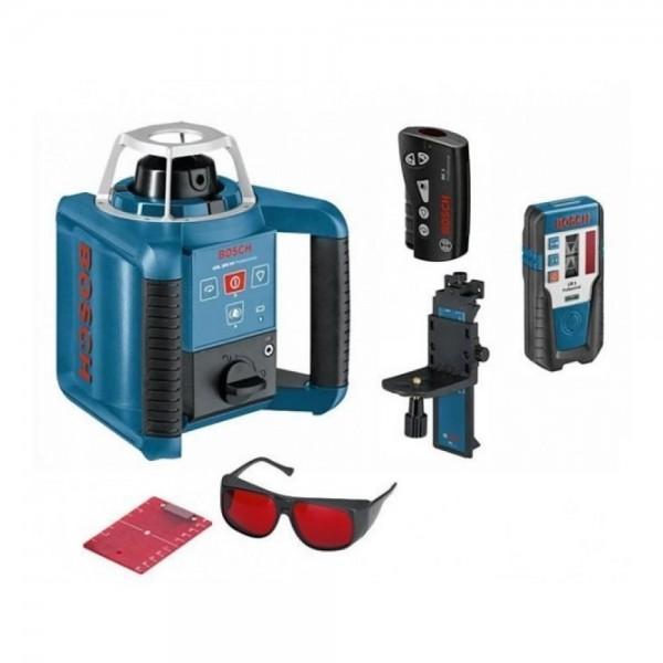 Bosch GRL 300 HV Livella laser rotante + WM 4 Supporto + LR 1 Ricevitore + RC 1 Telecomando