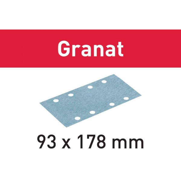 Festool Foglio abrasivo STF 93X178 P60 GR/50 Granat