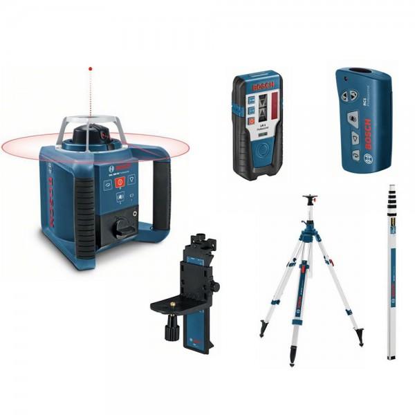 Bosch GRL 300 HV Livella laser rotante + BT 300 HD Treppiede + GR 240 Asta metrica + RC 1 Telecomando