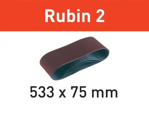Festool Schleifband L533X 75-P120 RU2/10 Rubin 2