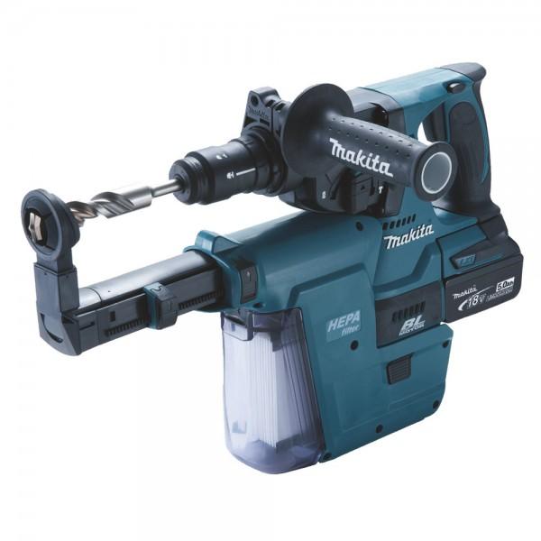 Makita DHR243RTJW Tassellatore a batteria + set d'aspirazione, 18V