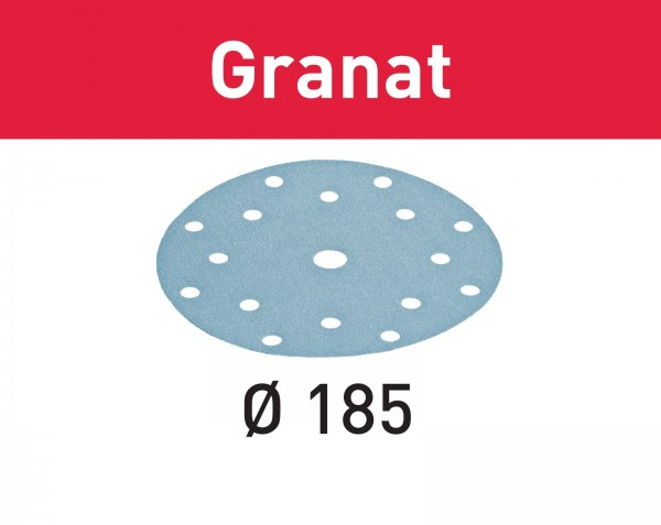 Festool Disco abrasivo Granat STF D185/16 P60 GR/50
