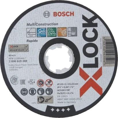 Bosch Mola da taglio X-LOCK Multi Construction 125x1,6mm