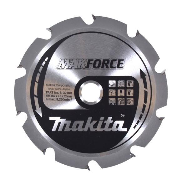 Makita Lama MAKFORCE 165x20mm Z=10