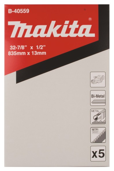 Makita Lama per sega a nastro BIM 835mm 18D, 5 pezzi
