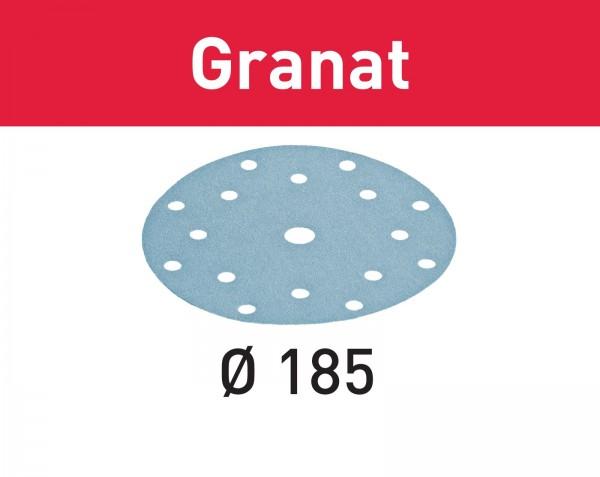 Festool Disco abrasivo Granat STF D185/16 P80 GR/50