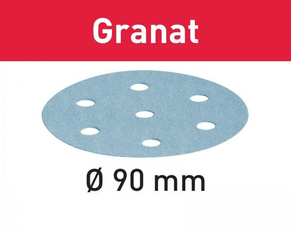 Festool Schleifscheibe Granat STF D90/6 P40 GR/50