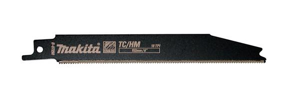 Makita Lama per seghetto dritto TC/HM 125mm per INOX, conf. 2 pezzi