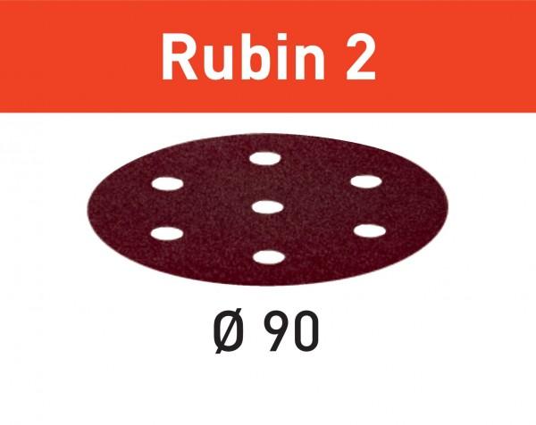 Festool Schleifscheibe STF D90/6 P120 RU2/50 Rubin 2