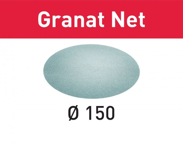 Festool Abrasivo a rete STF D150 P180 GR NET/50 Granat Net
