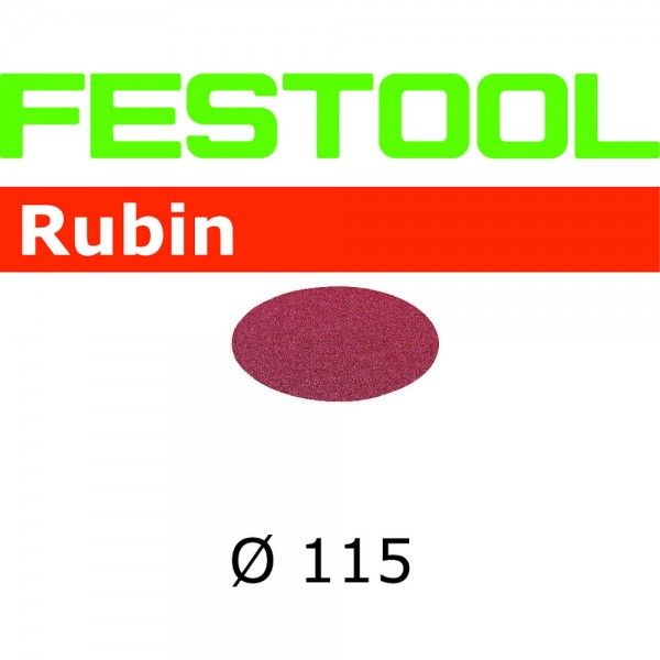 Festool Disco abrasivo Rubin STF D115 P24 RU/50