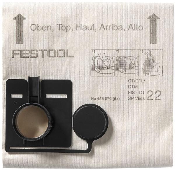 Festool Filtersack FIS-CT 22 SP VLIES/5, VE 5 Stück