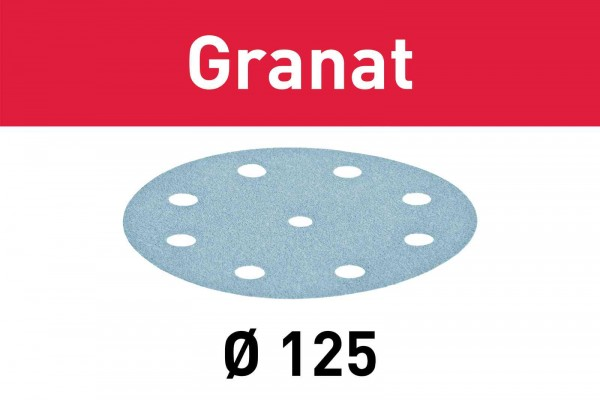 Festool Disco abrasivo Granat STF D125/8 P240 GR/100