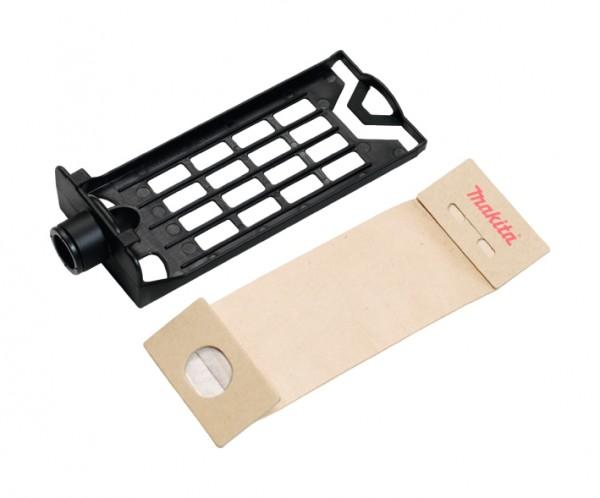 Makita Telaio di supporto per sacchetti di carta + 1 Sacchetto filtro 235x90mm