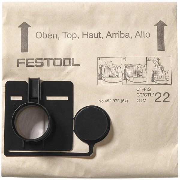 Festool Sacchetto filtro FIS-CT 55/5, conf. 5 pezzi
