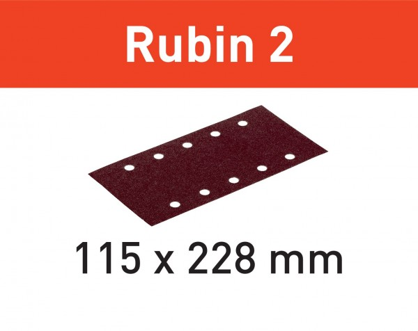 Festool Foglio abrasivo STF 115X228 P60 RU2/50 Rubin 2