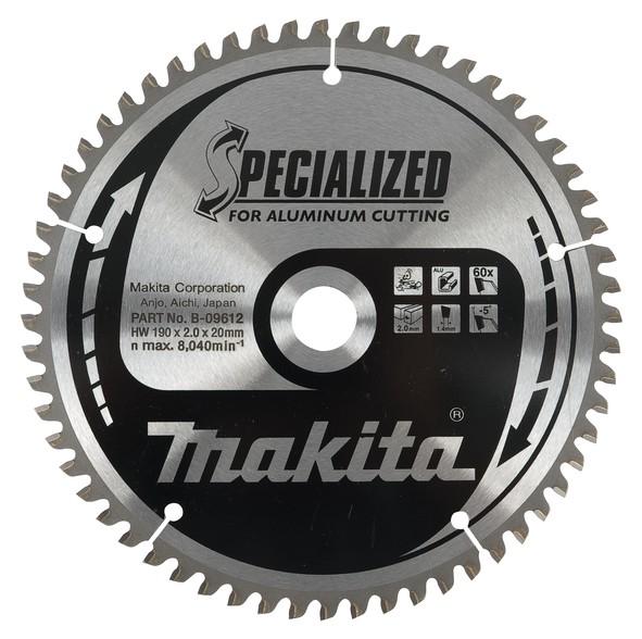 Makita Lama 165x20mm D=56 SPECIALIZED per alluminio