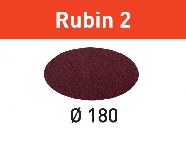 Festool Disco abrasivo Rubin 2 STF D180/0 P80 RU2/50
