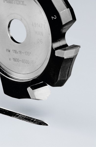Festool Frese a scanalare V HW 118x18-135°/Alu