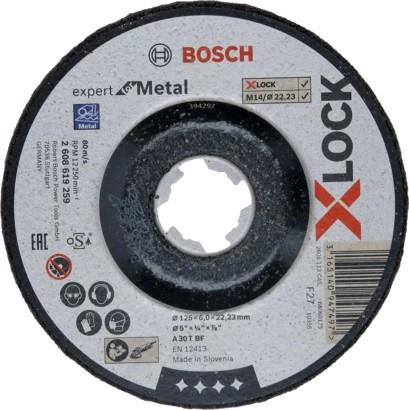 Bosch X-LOCK Schruppscheibe Expert for Metal 125x6,0mm
