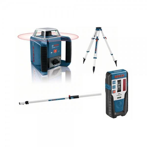 Bosch GRL 400 H Rotationslaser + BT 170 HD Baustativ + GR 240 Messstab + LR 1 Laserempfänger